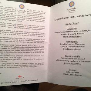 Locanda Nerello menu